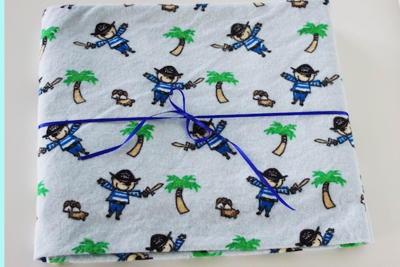 Extra Large Receiving/Swaddle Blanket - Pirates 42x40