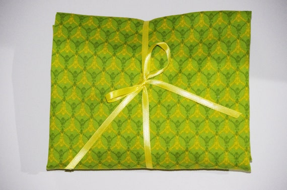 Pack n Play Sheet - Fitted Cotton Playard Sheet for Baby or Toddler - Green Yellow