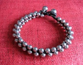 Handmade Beauty Silver Beads Bracelet from Thailand  (B111-S)