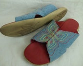Butterfly Denim Sandals Sz 8