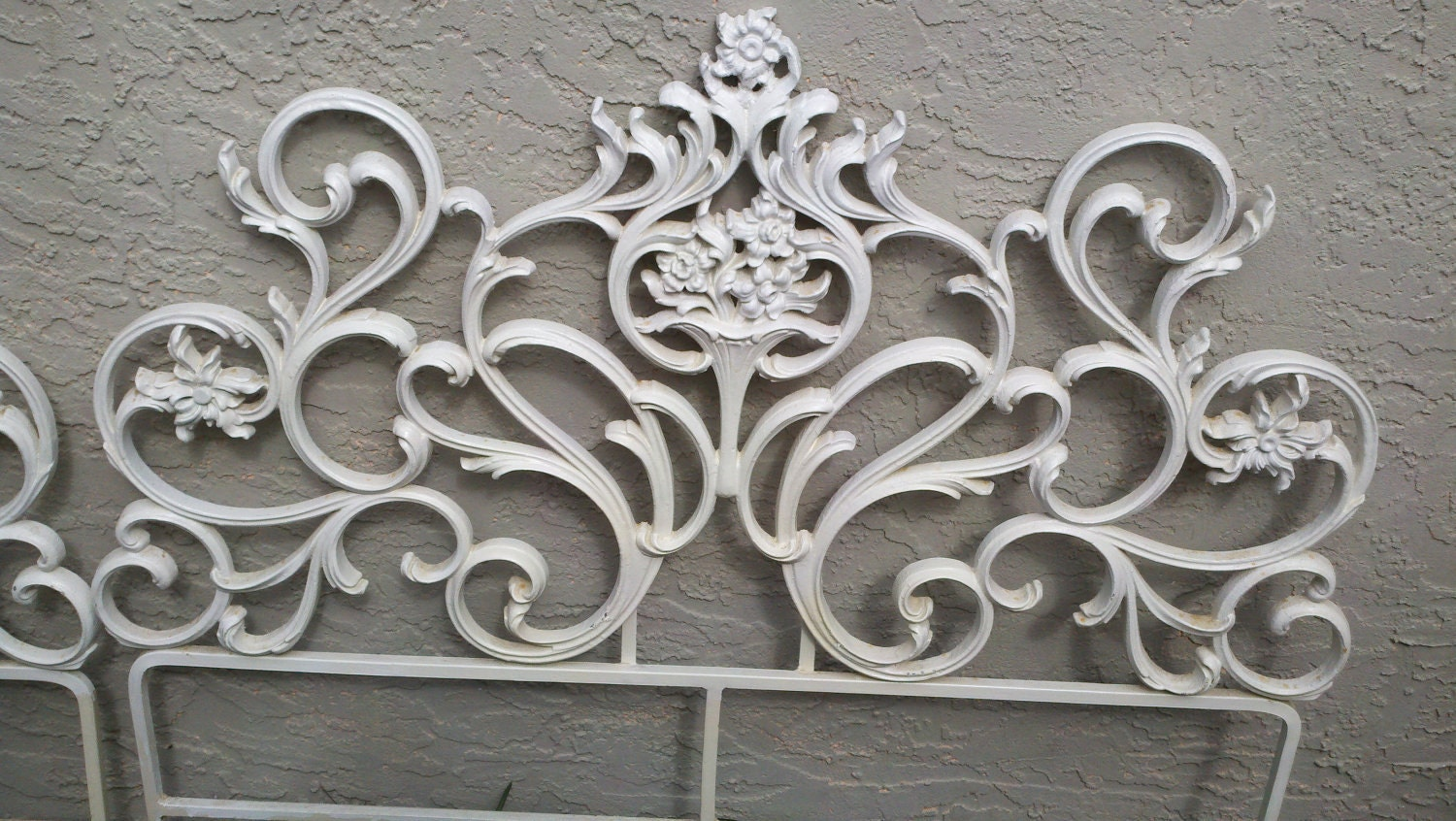 Hollywood Regency Style Iron Twin Headboards. The Price Is For