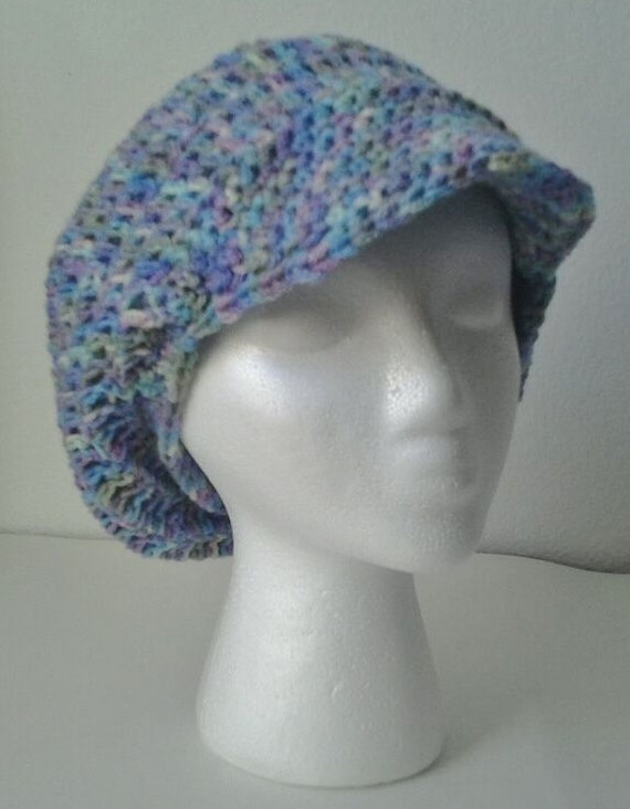 Crochet Brimmed Slouchy Beret/Hat