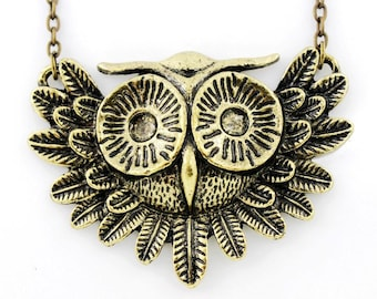 NEW Vintage Retro Style Special OWL Pendant NECKLACE