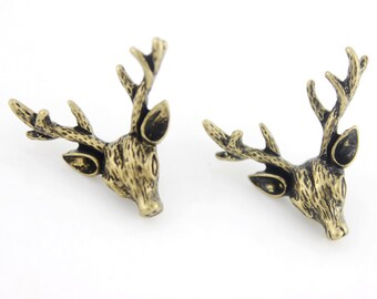 Cute Small Deer Post Stud Earrings