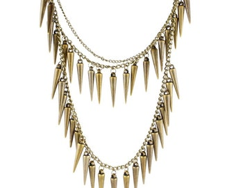 Special Cool Bullet Triple Layers Necklace