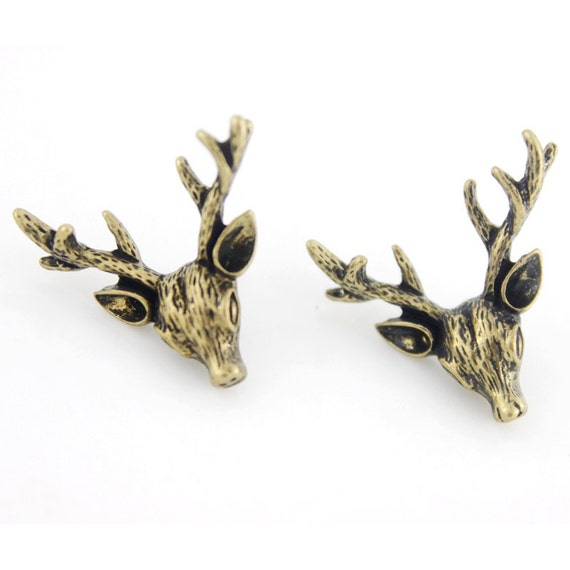 Cute Small Deer Post Stud Earrings