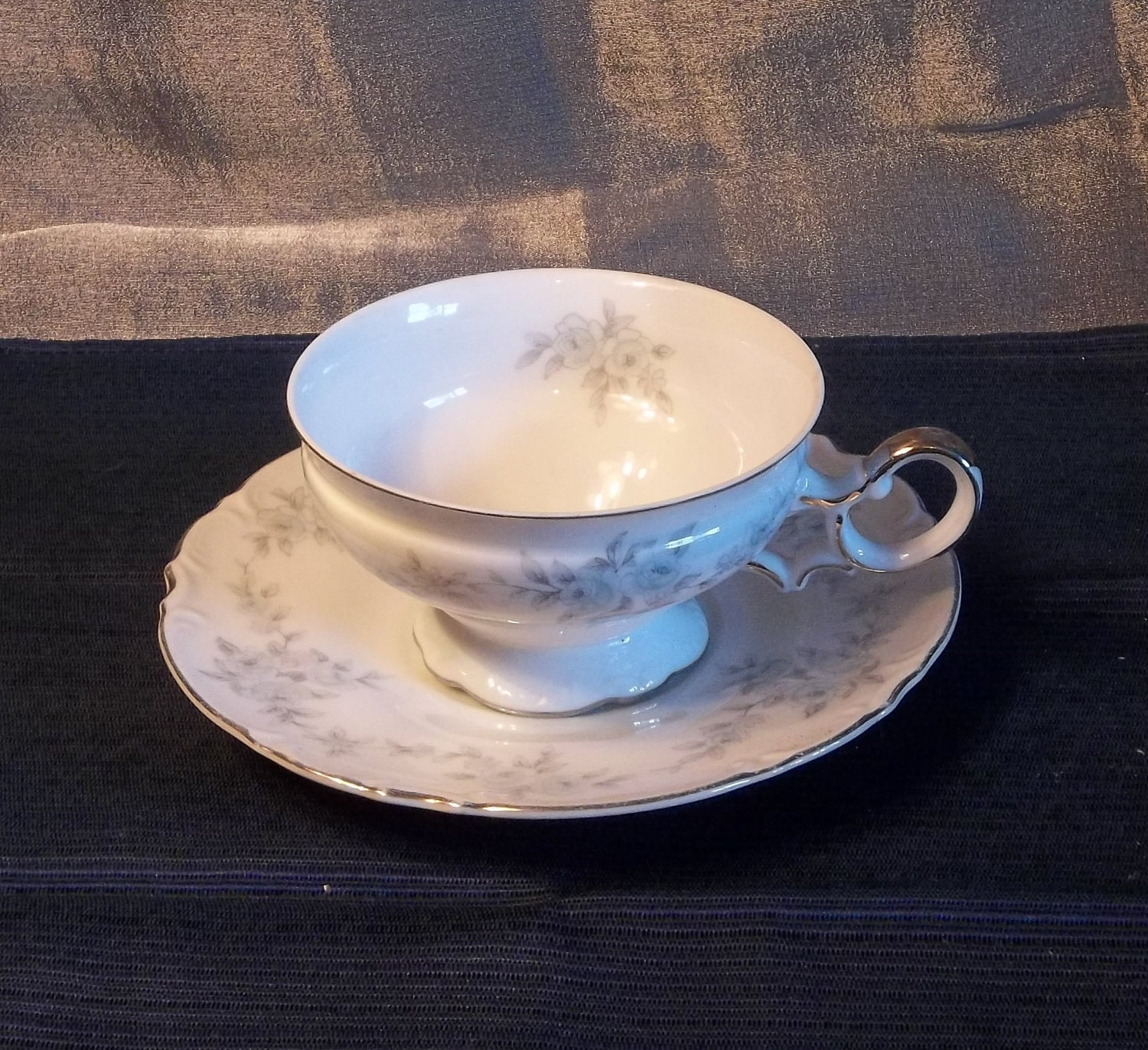 Mikasa fine china barbizon number 9289 footed cup and saucer for Mikasa china