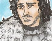 Jon Snow - ORIGINAL - ACEO