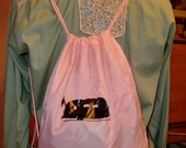 Airstream Trailer Nap Sack, Pink and Black - Adorable