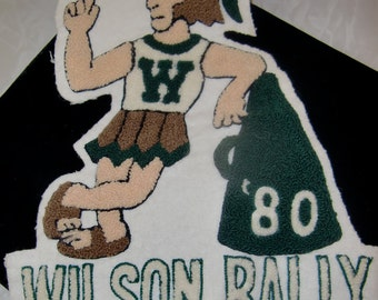 1980 Wilson Rally, Letterman Trojan Basketball Player Emblem