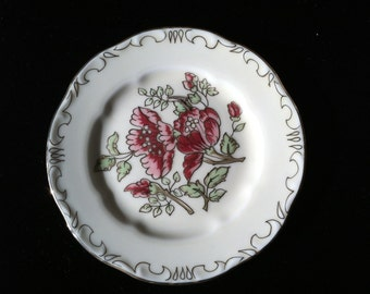 Zsolnay Hungarian Hand Painted Miniature Plate - Rose Floral Design
