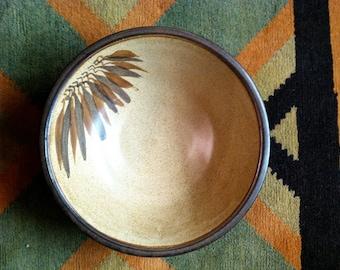 Vintage Stoneware Bowl - Mid Century Look - Large Size