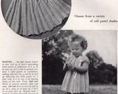 "Adorable Vintage Toddler Girl ""Sunday Best"" Lacey Chevron CROCHET DRESS Pattern Instructions PDF Tutorial"