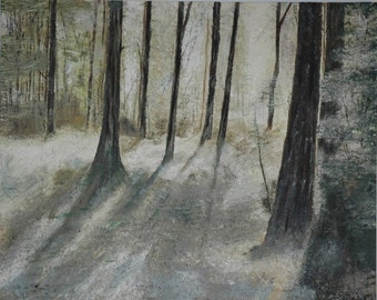 Original Acrylic on Canvas - Abstract Trees