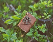 Book Necklace / Mini Leather Journal Necklace /  Brown Medieval Colored Book Pendant
