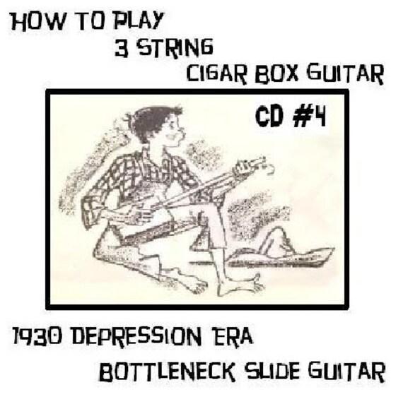 CD 4 Cigar Box Guitar 3 string Part 1 video lessons bottleneck slide delta keni lee