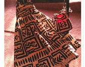 unique couture African print little girl dress.