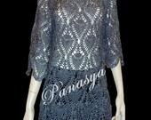 Hand Crocheted Black Metallic Dress