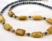 Fossil, Sodalite, and Citrine Necklace
