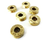 Bullet Casings for Jewelry Making or Art, gold bullets, bullet supplies, cut casings, bullet beads, industrial, steampunk, repurposed