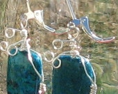 Wire wrapped Energy Cleansing Mental clearing Positive self healing POWERFUL Spiritual connections Reiki Earrings