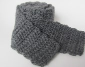 The Roberto - Charcoal gray scarf / neckwarmer - Free shipping