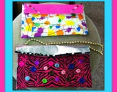Splotches and Blotches Duct Tape Purse and Pink, Silver, and Pink Zebra Stripes Purse