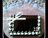 Black and White Ladies Tri-fold Duct Tape Wallet