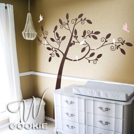 Birds Tree  - Nursery Wall Decal