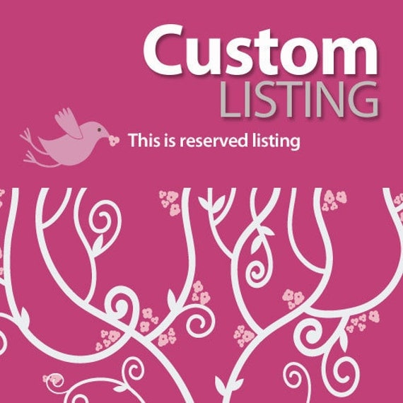 Reserved Custom Listing for jenniferdykema