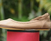 25% OFF. Leather ballet flats with braided strap / shoes / sizes 35-43. Available in different leather colors.