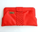 HALCYON. Woven oversized clutch / leather purse. Available in different leather colors.