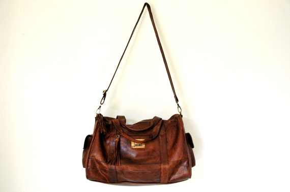 SOHO. Duffel bag / leather luggage / travel bag / leather weekender bag / brown leather bag. Available in different leather colors.
