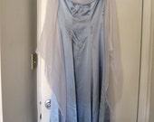 Handmade Satin Baby Blue Rennaissance Princess Dress Size 4