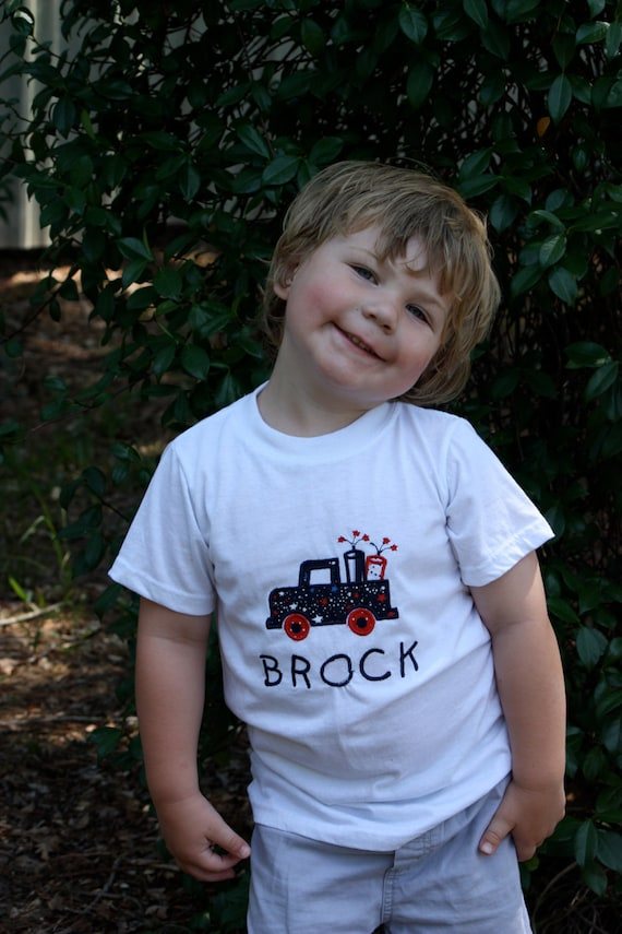 Infant, Toddler and Boys July 4th Firecracker Truck T-Shirt