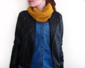 Hand Knit Cowl in Mustard