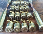 Groomsmen Gift cuff links Bullet  wedding set of 8 pair groomsman gift 7mm Remington MAG gold tone backings deer hunting rifle grooms gift