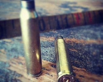 223 Bullet Shell Casings AR 15 1 pair of .223 ar-15 Rounds Brass rifle ammo Bullet Steampunk Supply Craft  Rifle Hunting