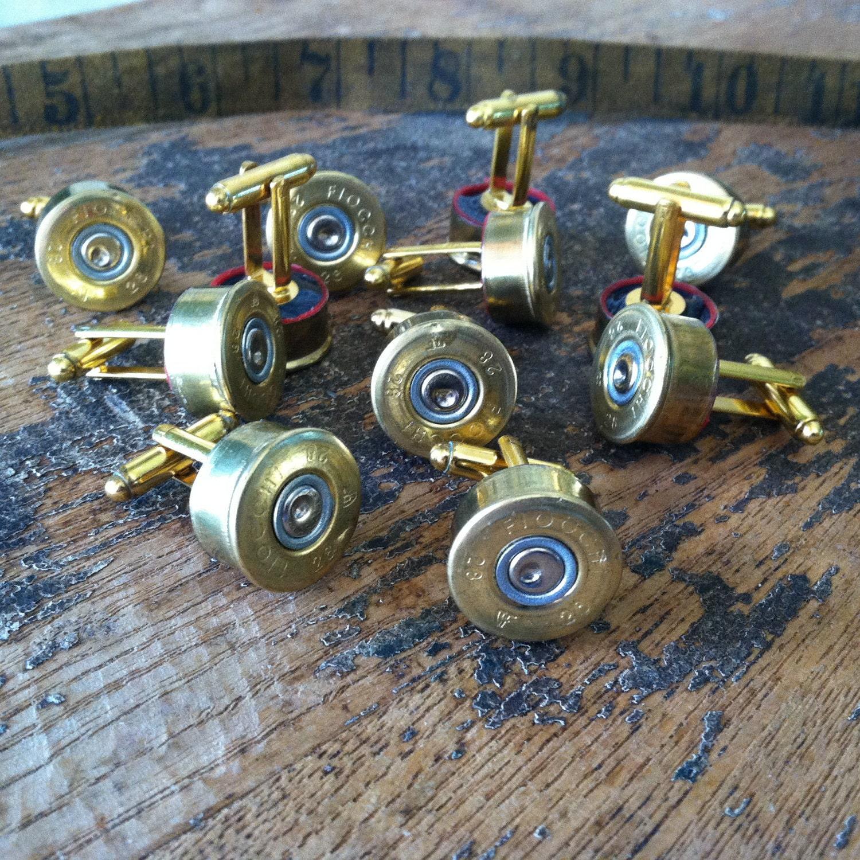 Wedding Cufflinks Shotgun Set 6 Pair Groomsman By DieselLaceDesign