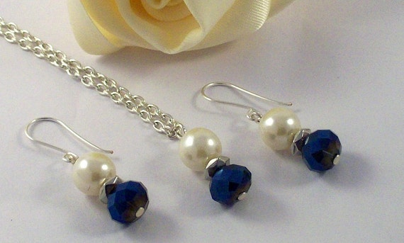 Reserved Listing - Blue and Ivory Bridal Set
