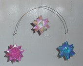 Hanging Mobile, Origami Mobile, Origami Stars, Iridescent Colors