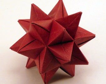 Red Origami Star, Christmas Ornament, Red Star Ornament, Red Christmas Star, Origami Ornament