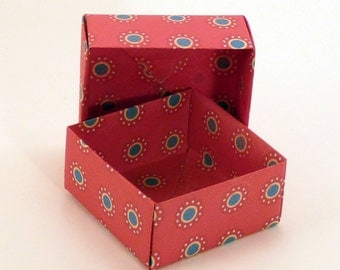 Set of 40 Small Gift Boxes, Jewelry Box, Origami  Box, Favor Box, Hand Made Box, Colorful Box