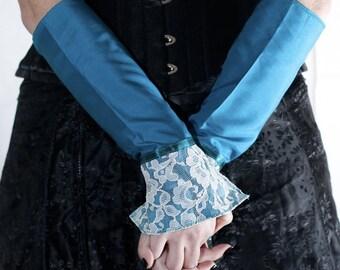 Countess' Cuffs - Lapis Lazuli - Victorian Steampunk