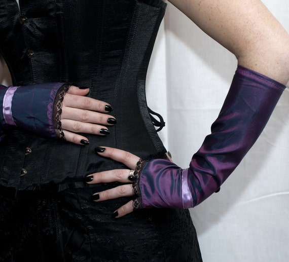 Countess' Cuffs - Plum Purple - Victorian Steampunk