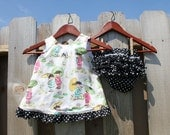 China Dolls Pinafore with Ruffled Diaper Cover CUSTOM ORDER