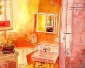 Burlesque private room, watercolor.print