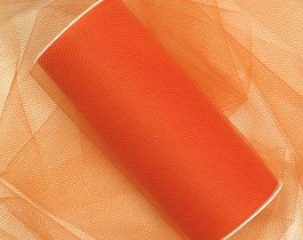 "6"" Orange Tulle - 5 Yards"