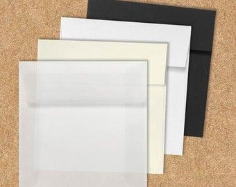 7 x 7 Square Invitation Envelopes - Pick A Color - Quantity of 50