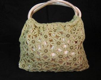 Satin Crochet Handbag from Aspen